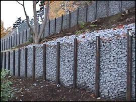 Габионы для стен подпорки