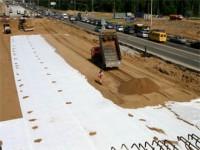 Геотекстиль при расширении дороги